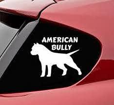 Amazon Com American Bully Pitbull Dog Silhouette Vinyl Decal Sticker Pit Bull K9 Rescue Love Automotive