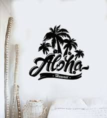 Vinyl Wall Decal Palm Trees Hawaii Aloha Summer Beach Style Stickers G580 Ebay