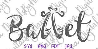 Ballet Svg Applique Ballet Slippers Dance Sign Shoe Flat Clipart Shirt Word Svg Files For Cricut