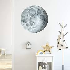 Moon Watercolor Wall Decal Wallency