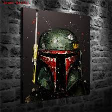Star Wars Boba Fett Canvas Painting Print Living Room Home Decor Modern Wall Art Oil Painting Poster Painting Calligraphy Aliexpress