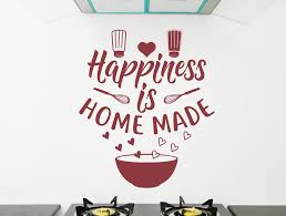 Happiness Is Homemade Wall Decal Kitchen Decal Kitchen Decor Kitchen Wall Decal Kitchen Quotes Vinyl Wall Art Happiness Sticker