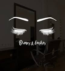 Vinyl Wall Decal Brows And Lashes Eyelashes Beauty Salon Stickers 318 Wallstickers4you