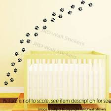 wall stickers puppy dog cat paw