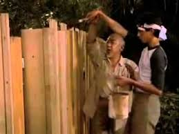 Karate Kid Lesson 4 Paint The Fence Youtube