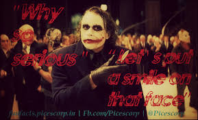 our all time favourite villain joker and his epic quotes