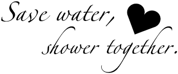 Amazon Com Boodecal Quote Series Wall Decals Save Water Shower Together Funny Catch Phrase Vinyl Wall Quotes Art Stickers Cute Inspirational Home Bathroom Shower Glass Sayings Art Lettering 22 Inches X 9 Inches