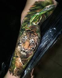 Jungle tattoo, Tiger tattoo sleeve ...