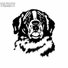 Volkrays Lovely Car Sticker St Bernard Dog Head Face Accessories Reflective Waterproof Vinyl Decal Black Silver 14cm12 Cm Car Stickers Aliexpress