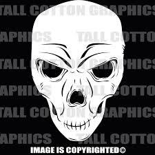 Zombie Skull Vinyl Decal 058