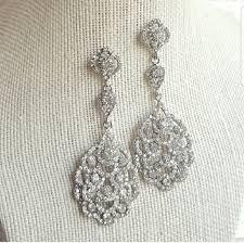 eiffel crystal chandelier earrings