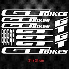 Amazon Com Gt Bikes Vinyl Decal Stickers Sheet Frame Cycle Cycling Bicycle Mtb Road White Kitchen Dining