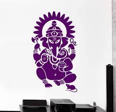 Vinyl Wall Decal Ganesha Hindu Sanskrit Om India God Art Hinduism Stic Wallstickers4you