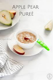 apple pear pureè easy baby meals