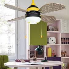 14 18 Wide Honeybee 4 Blade Cartoon Kids Ceiling Fan With Light And Pull Chain Beautifulhalo Com