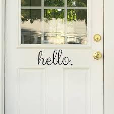 Hello Goodbye Door Decal Window Film World