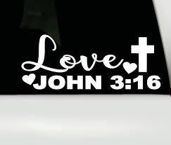 John 3 16 Vinyl Decal John 316 Car Truck Window Sticker Etsy In 2020 Christian Car Decals Truck Stickers Car Decals Stickers