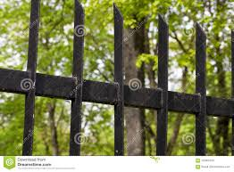 Painted Metal Fence Dark Stock Photo Image Of Decorative 102901234