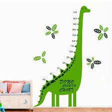 Green Dinosaur Animal Growth Chart Height Measure Wall Sticker Decal Kids Room M2110 Kids Room Growth Chartheight Measure Aliexpress