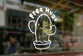 Cactus Free Hugs Decal For Cup Vinyl Sticker Car Auto Glass Bumper Laptop Phone Ebay