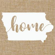 Amazon Com Iowa Ia Home Script State Silhouette Glossy White Outdoor Vinyl Car Window Decal 3 Inches X 5 5 Inches Handmade