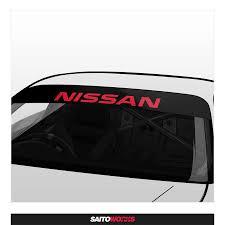 Nissan Racing Logo Sunstrip Banner Saitoworks