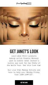 mac get the janet jackson look now