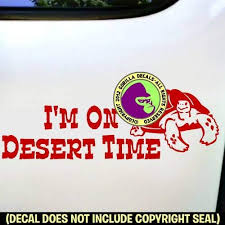 Amazon Com The Gorilla Farm I M On Desert Time Funny Tailgating Tailgate Pet Tortoises Love Desert Vinyl Decal Sticker Car Window Bumper Wall Laptop Sign Red 4 5 X1 5 Home Kitchen