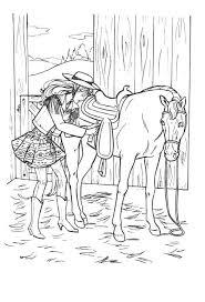 Clarinsbaybloor Blogspot Com Kleurplaat Barbie Paard