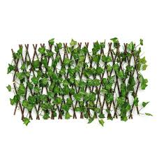 Expandable Artificial Faux Ivy Leaf Hedge Panels On Roll Garden Screen Fence 40cm Grape Lazada Ph