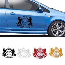 Car Motorcycle Electric Car Sticker Vip Lion Carved Waterproof Car Decal Wish