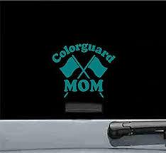 Amazon Com Js Artworks Colorguard Mom Vinyl Decal Sticker Teal Automotive