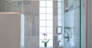 install glass block in the bathroom