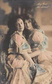 Tiller Girls: Mary Read (left) and Ada Mitchell (right). GGCo postcard  357/5. | Girl dancing, Vintage ladies, Lady