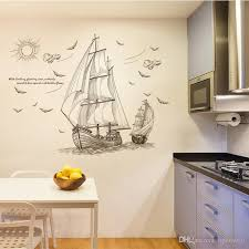 120cm X 89cm Sailboat Wall Decal Pvc Home Sticker House Vinyl Paper Decoration Wall Paper Living Room Bedroom Kitchen Art Picture Diy Kids N Wall Stickers Decorations Wall Stickers Design From Opera001