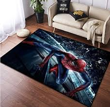 Carpet Childrens Room Spider Man Rugs Avengers Heroes Bedroom Personality Creative Bedside Blanket Mats Decoration 80cm 120cm Decoration Nursery