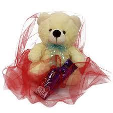 lovable teddy with chocolate send