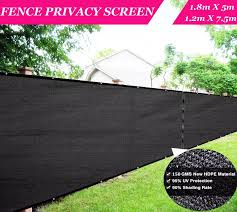 Black Privacy Screen Fence Mesh Windscreen Garden Fence Protection Privacy Balcony Fence Net For Patio Backyard Porch Pool Fencing Trellis Gates Aliexpress