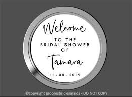 Custom Welcome Bridal Shower Decal Mirror Wedding Sign Vinyl Etsy