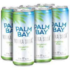 palm bay vodka soda tangerine lime 6x 355ml