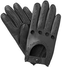 mens leather soft driving gloves retro