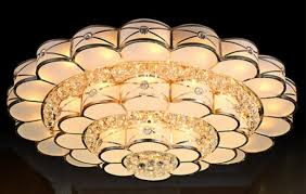 large gold crystal ceiling lamp round