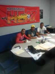 """Harrisburg Heat on Twitter: """"Lucio Gonzaga, Adauto Neto, and Val Teixeira  signing their deals with the @HarrisburgHeat . https://t.co/yjAmgeoffg"""""""