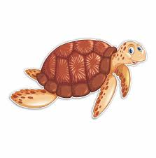 Brown Sea Turtle Sticker Decal Bumper Sticker For Auto Cars Etsy
