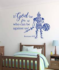 Amazon Com Bible Verse Vinyl Wall Decal Romans 8 31 If God Be For Us Who Can Be Against Us Christian Vinyl Scripture For Home Or Church Decor Handmade