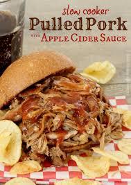 pulled pork with apple cider sauce