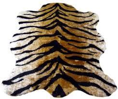 faux fur tiger skin rug