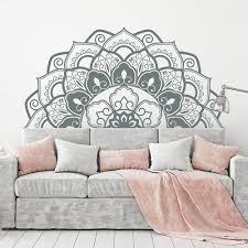 Fashion Mandala Wall Decals Art Half Mandala Headboard Home Decor Vinyl Bohemian Wall Stickers Bedroom Yoga Studio Wall Lc1193 Y200103 Wall Decals For Cheap Wall Decals For Girls Room From Shanye10 9 33