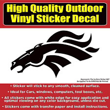 Denver Broncos Black Design Car Window Vinyl Decal Sticker Colorado Sticker
