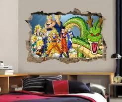Dragon Ball Z Wall Decal Removable Wall Sticker Mural Goku Vegeta Shenron H189 Ebay